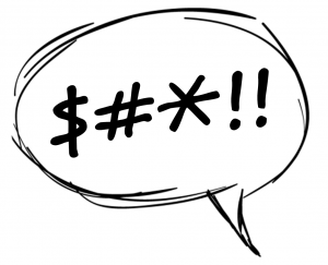 """Word bubble containing, """"$#*!!"""""""